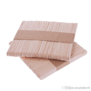 50Pcs set Wooden Popsicle Stick Kids Hand Crafts Art Ice Cream Lolly Cake DIY Making Funny Hot