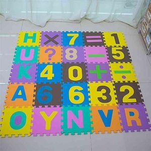 30x30 cm Köpük İngilizce Alfabe Numarası Desen Bebek Çocuk Için Play Mat Oyun Puzzle Oyuncak Yoga Mektup Tarama Ekleme Kat Mat 210402