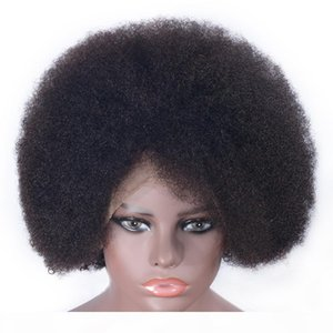13x6 Afro Kinky Curly Human Hair Wigs Brazilian Remy Hair Lace Front Wig Pre Plucked With Baby Hair