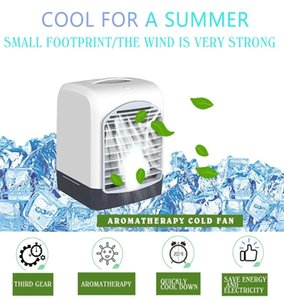 Portable Mini Air Conditioner furnitures USB Small Desktop Fan Cooling Humidifier Aromatherapy Multifunction Cooler