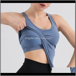 Outfits Exercise Wear Athletic Outdoor Apparel & Outdoorssport Vest With Chest Pad Yoga Tops Vest+Bra Fitness Women Sport Sexy Shirt Gym Spo