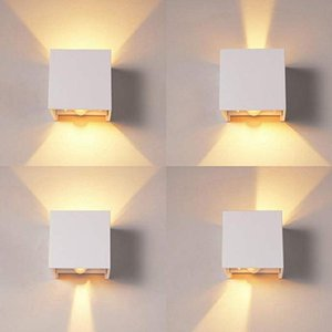 Wall Lamps Nordic LED Motion Sensor 12W Indoor And Outdoor Lamp Aluminum PIR Light Garden Porch Sconce AC90-260V