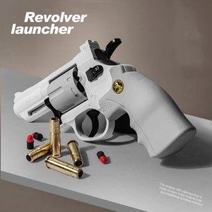 Toy Guns Revolver ZP5 Pistol Manual Launcher Blaster Soft Dart Bullet Airsoft Pneumatic Shotgun Firing Pistola For Boys Adults Birthday Gift