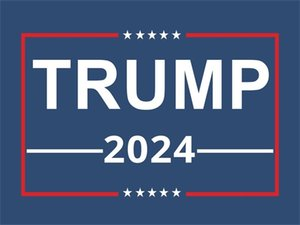 2024 Trump Car Stickers 2024 US Presidential Campaign Trump Sticker 14.8*21CM PVC Tags Trump Car Sticker Bumper Sticker Car Decor 688 V2