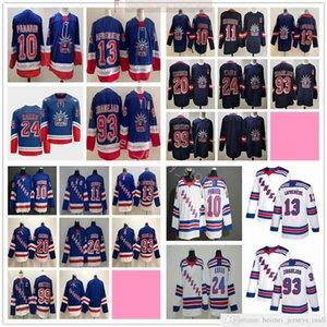 2021 2022 Noticias York Rangers Hockey Jerseys Artemi Panarin Mark Messier Alexis Lafrenier Kaapo Kakko Mika Zibanejad Chris Kreider Shattenkirk