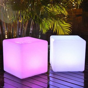 Remote Control LED Cube Light RGB Garden Decoration LED Furniture Waterproof Lawn Lamps Glowing Stool Cube Remote Control Chair