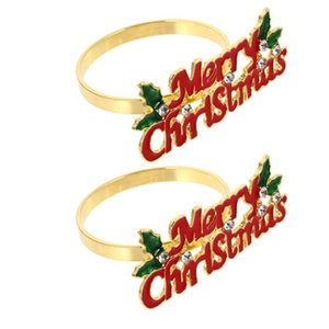 Table Napkin 2PCS Christmas Party Buckle Ornament Chic Xmas Theme Modelling Ring