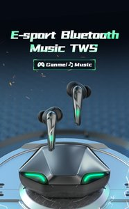 Gamer Music Dual Mode TWS Gaming Headphones Bluetooth Earphones Wireless Earbuds Sports Waterproof Headsets Bass Stereo for iphone X 11 12 Samsung S20