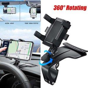 Support de téléphone mobile multifonctionnel de voiture 1200 degrés Sun Visor Miroir Dashboard Support de support GPS avec carte de stationnement Habileté