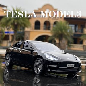 2021 132 Tesla MODEL X MODEL 3 MODEL S Alloy Car Diecasts Toy Vehicles Toy Cars Kid Toys For Children Gifts