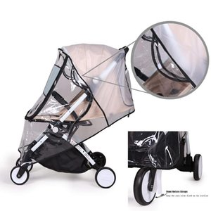Stroller Parts & Accessories Waterproof Rain Cover Transparent Wind Dust Shield Zipper Open Raincoat For Baby Strollers