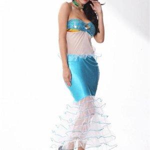 Designer Cosplay Fashion Sexy Styel Festival Theme Costume Female Clothing Fashion Casual Apparel Mermaid Fish Hallowenn