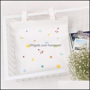Shop Bags, Lage & Aessoriesshop Bags Yile C03 Cotton Canvas Tote Carry Bag Embroidered Universe White Cw B# Drop Delivery 2021 R9Xzh