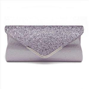 Высокое качество PU кожаные женщины леди блестки сцепления сумка вечерняя свадьба вечеринка PROM сумочка сумка кошелек Shinny на плечо