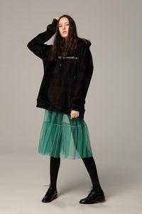 Women's Sleepwear 2021 Est Women Transparent Petticoat Single-layer Mesh Skirt Fishtail Lace Perspective High Waist Modern Underskirt