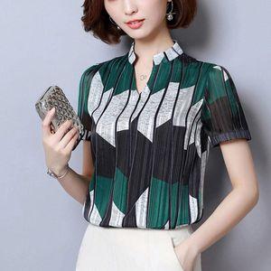 Women's Blouses & Shirts Volocean 2021 Summer Women Blouse Elegent Chiffon Shirt Blusas Plus Size Female Print Top Tee