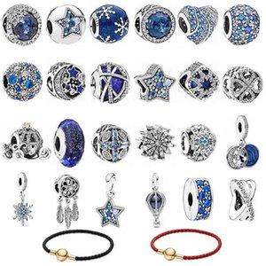 2021 Original Silver Plated Bead Alloy Family Mother Love Heart Pendant Charm Fit Pandora Bracelet Necklace DIY Women Jewelry