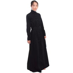 Serviteur vintage britannique robe de marche noire robe de ménage blanc Costume Victorian Edouardie Maison de ménage Cosplay Expédition rapide