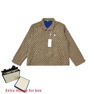 21SS A&W Classic Print Mens Jacket Loose Casual Letter Logo Pattern Coat Zip Pocket Trim Couples Wear Womens Coats