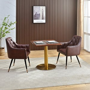 Dining Room Simple fast food table and chair combination snack bar canteen restaurant table's ands chairs Dessert Cafe square tables