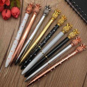 Pineapple pen metal ball point pen rotating gift advertising pen