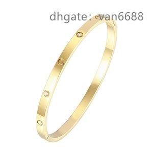 With box Ladies love rings Pendant Necklaces Screw carti Bracelet Van Party Wedding Couple Gift Bracelet Fashion Luxury Cleef Designer Bracelet aa5