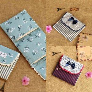 Sweet Floral Cotton Fabric Cute Aunt Towel Sanitary Napkin Storage Bag Mini Portable Small L18A