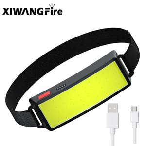 Year Style Headlamp Portable Mini COB LED Headlight With Built-in Battery USB Rechargeable Head Lamp Torch Headlamps