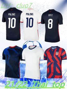 2021 US-Fußball-Jersey Pulisic Yedlin Bradley Mädchen-Shirt Vereinigte Staaten Herren Frau Holz Dempsey Altidore Fußball Uniform