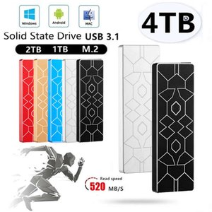 High Speed MINI SSD 4TB 2TB 1TB Portable TYPE-C External Hard Drive Mobile Solid State Drives for Laptops Desktop