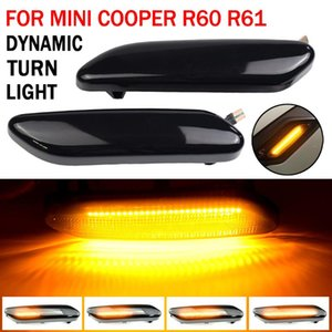 Emergency Lights 2Pcs Dynamic Amber LED Side Marker Turn Signal Sequential Blinker Light For Mini Cooper R60 R61 Countryman Paceman