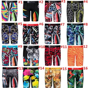 Mens Boy Shorts Designer Boxers Quick Dry Fashion Briefs Men Underwear Animal Shark Print Short Pants Sport Underpants Summer Shorts 16Style
