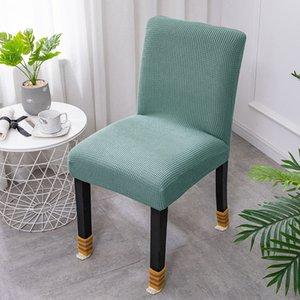 Verde lã Leorado Cadeira Sólida Capa de Cadeira Polar Cadeira Elástica Capa Longa Back Office Hotel Back Seat Cadeira Universal Covers