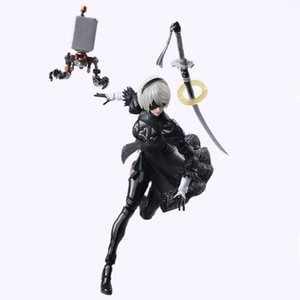 NieR Automata YoRHa No. 2 Type B 2B Fighting Action Figure PVC Toys Collection Doll Anime Cartoon Model For Christmas Gift 14CM T200704