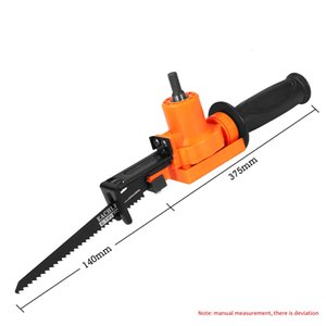 Electric Drill Modified Chainsaws Hardware Tools Reciprocating ChainSaw Saber Pruning Saw Drills to Jig Saws Portable Woodworking Tool Cutter