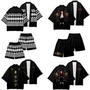 Manga Tokyo Revengers Anime Japanese Kimono Haori Yukata Cosplay Women Men Fashion Summer Casual Short Sleeve Streetwear Shirt