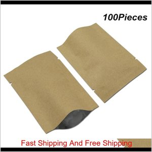 Storage 11 Sizes Available Brown Open Top Kraft Paper Inner Bags Mylar Vacuum Sealer Food Grade Pouch Aluminum Foil Flat Baggie For Mv Hiwtz