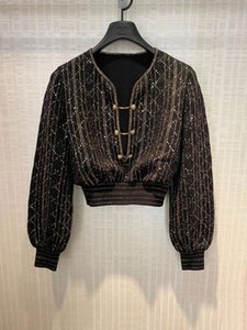 317 2021 Milan Stil Sommer Pullover Pullover Marke Gleiche Stil Regular Langarm V-ausschnitt Kint Pullover Frauen Kleidung Yiduo