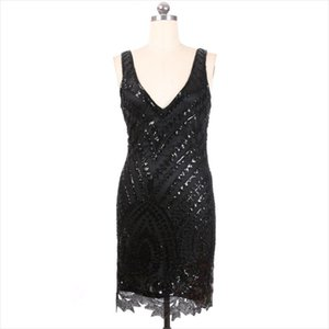 Stage Wear 2021 Sexy Fashionable Latin Skinny Costumes Women Performance Dance Clothing V-neck Backless Sequines Sheath Dress