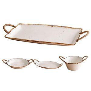 Bowls 1Pcs Japanese Style Retro Ceramic Dishes Ramen Bowl Salad And Home Creative Plates