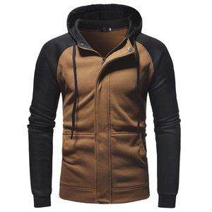 Men's Hoodies & Sweatshirts Casual Open Zipper Hooded Sweatshirt Men Spring Autumn Fashion Slim Male England Style