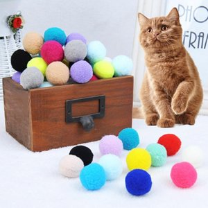 Cat Toys 30 70 Pcs Colorful Elastic Plush Balls Pet Kitten Scratch Bite Resistant Molar Teeth Cleaning Toy For Cats Training Supplies