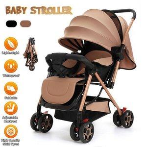 Designer Stroller de Luxo Bebê Bem Nascido Pram 2 em 1 Carriagem de Viagem Portátil Dobrável S Bassinet Puchair Alto Paisagem Carro