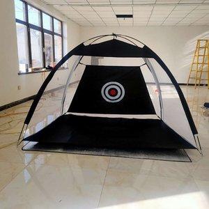 Indoor Outdoor Foldable Golf Practice Net Golf Hitting Cage Garden Grassland Practice Tent 1m  2m Golf Training Aids 201124 1137 Z2
