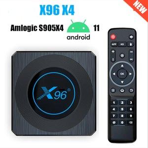 X96 X4 Smart Tv Box S905X4 RGB Light TV Box Android 11 4G 32G 64G Wifi Youtube Dual Wifi BT4.1 8K Set Top Box Media player