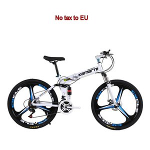 Speed Folded Mountain Bike 24 26 Inch 3 6 10 Knife Wheel Bicycle Carbon Steel Frame Disc Brake Adult Student Bikes