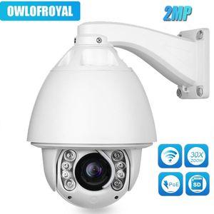 카메라 2MP 자동 추적 카메라 PTZ 30X 줌 옵션 무선 1080P 고속 돔 IR 150M IP P2P CCTV 보안