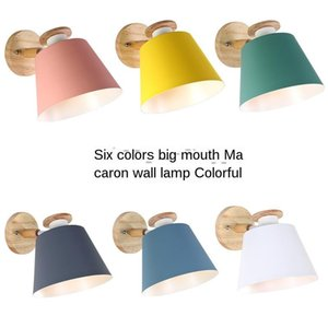 Nordic Style Modern Minimalist Creative Lamp Color Bedroom Bedside Living Room Study Balcony LED Wall