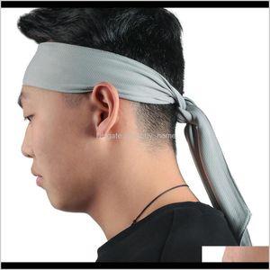 Bands Supplies & Outdoorswomen Yoga Sweat Run Tennis Fitness Men Headband Hair Ribbon Jogging Sports Aessories Sweatband Drop Delivery 2021 L