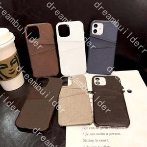 designer Phone Cases for iPhone 12 pro max 12promax 12pro 11 11pro 11promax X Xs Xr 8 7 Plus PU Letter luxury case With dual card slots